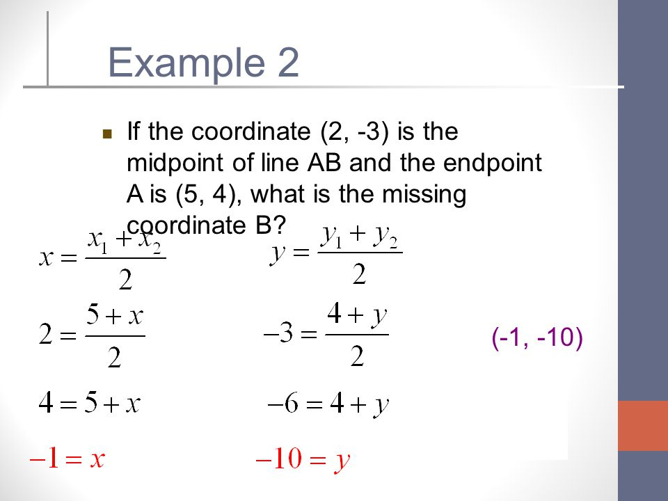 The Distance and Midpoint Formula - ppt video online download