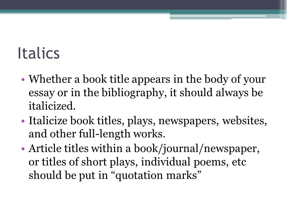 how to cite a journal title in an essay