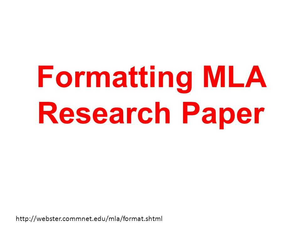 format+mla+research paper