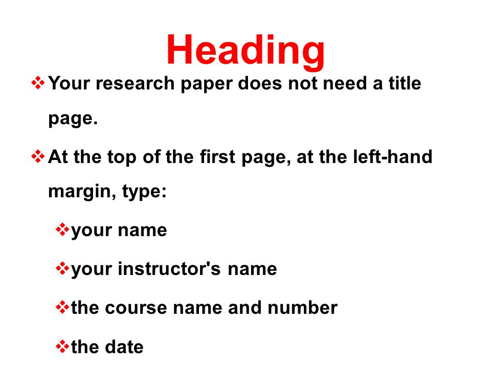 what are the headings in a research paper
