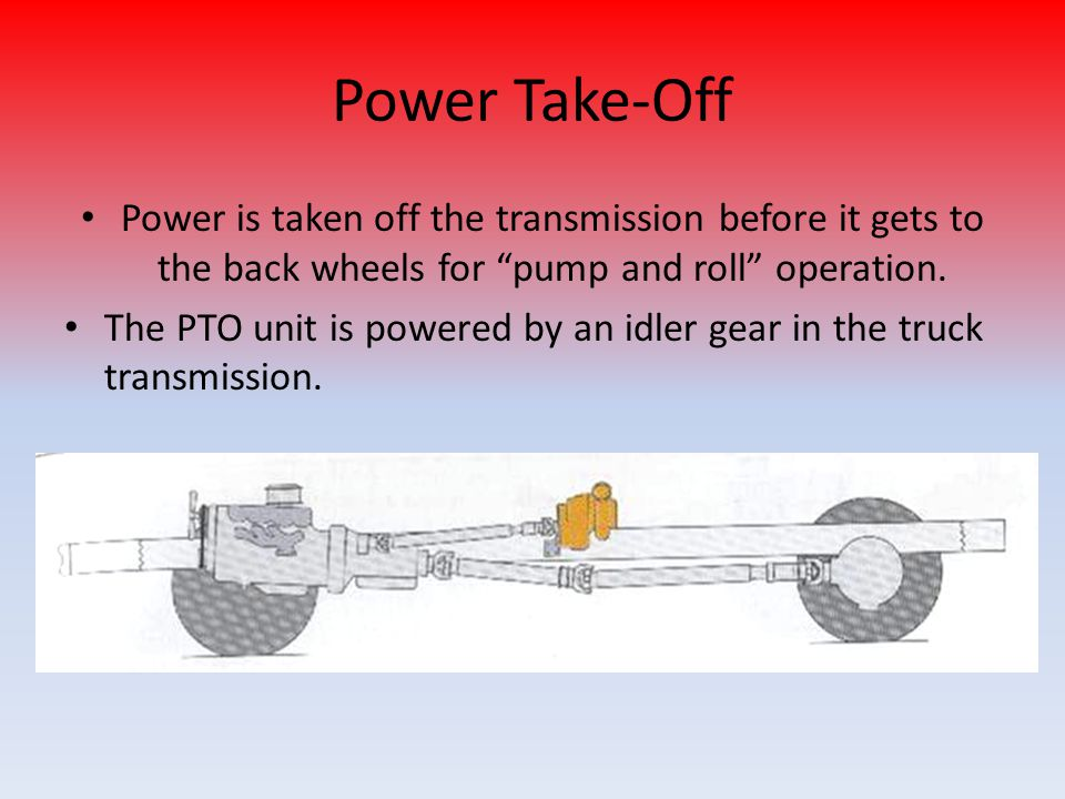 Pump Power Take Off : Cvfd training pump operations ppt download