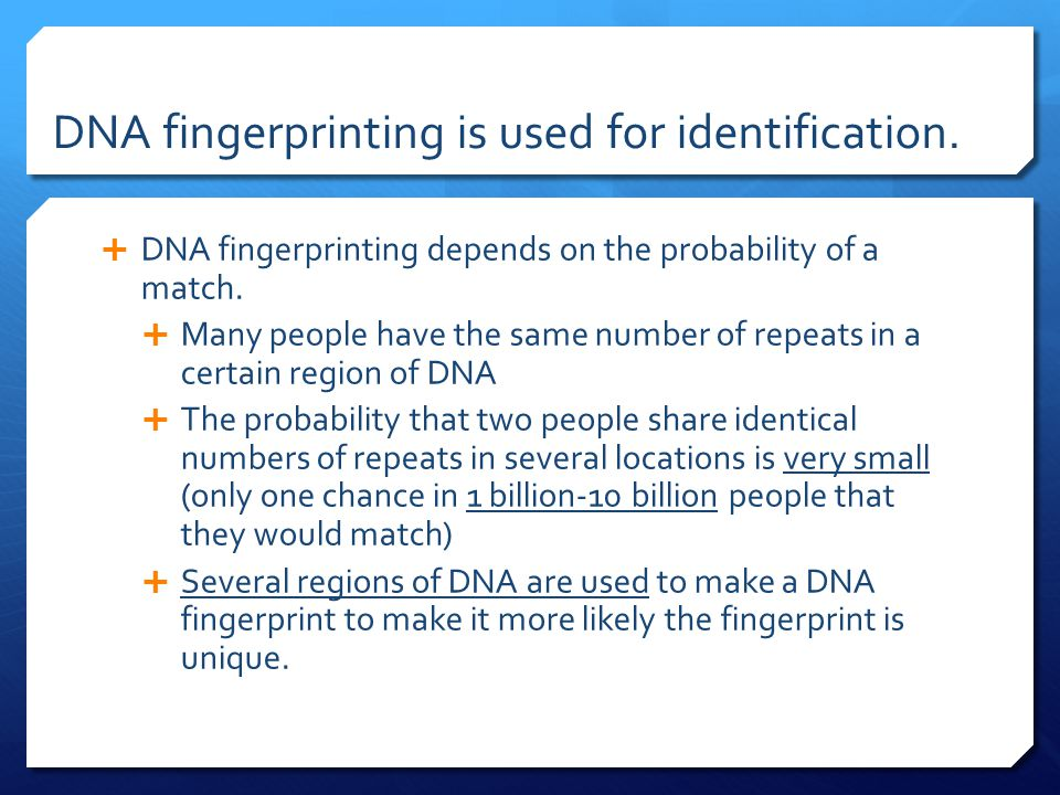 a study of dna fingerprinting Case study in dna fingerprinting aa aa aa by michael symons and laura  rivard introduction: earlier this year the supreme court heard.
