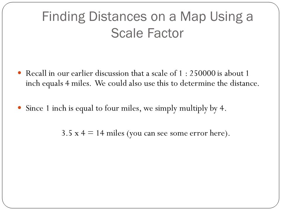 how to find the scale factor on a map