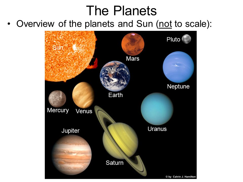 Solar System Planets: Order of the 8 (or 9) Planets