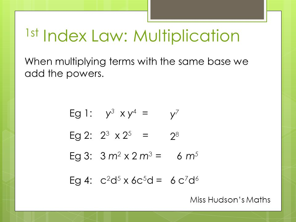 index laws with different bases of a relationship