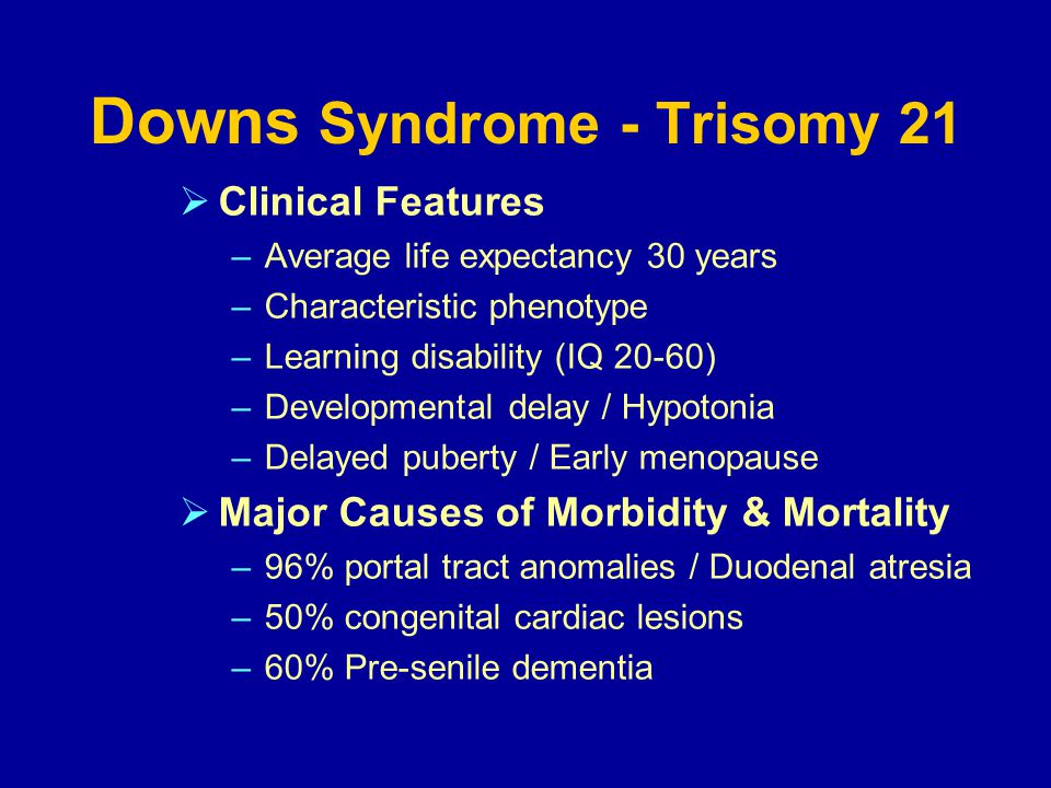 clinical features of down syndrome pdf