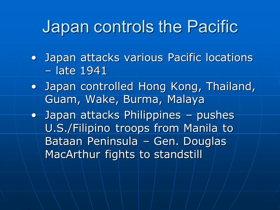 Japan controls the Pacific
