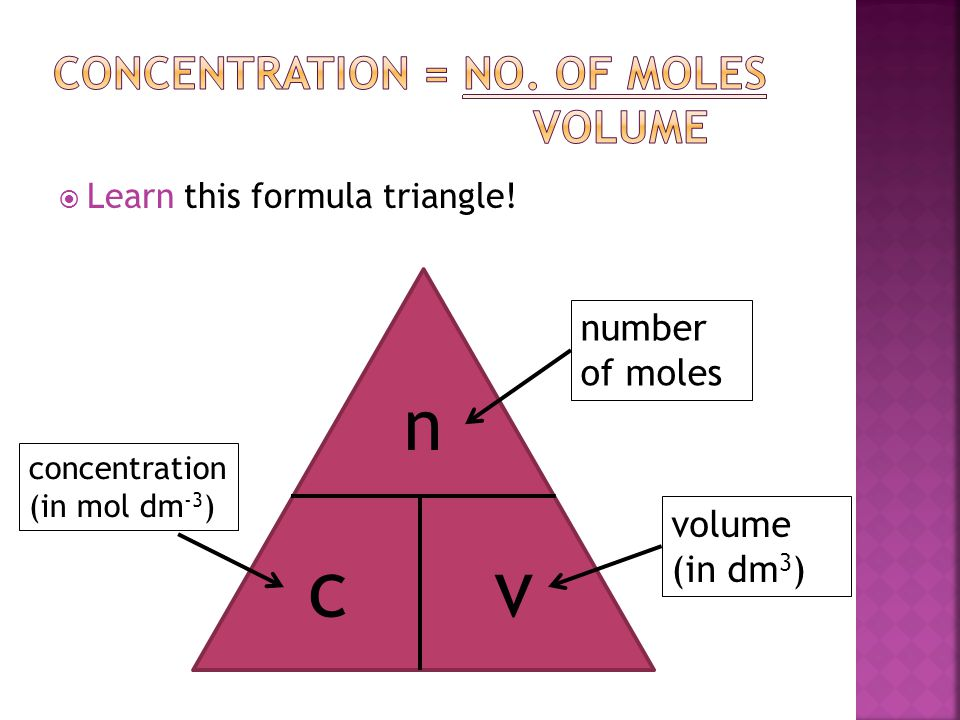 Concentration Formula Chemistry Images Reverse Search