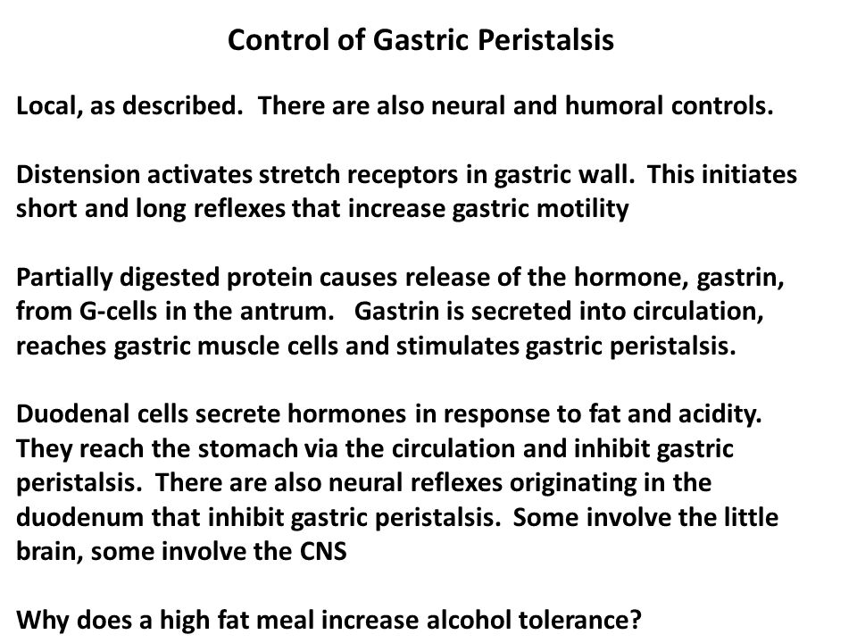 Control of Gastric Peristalsis