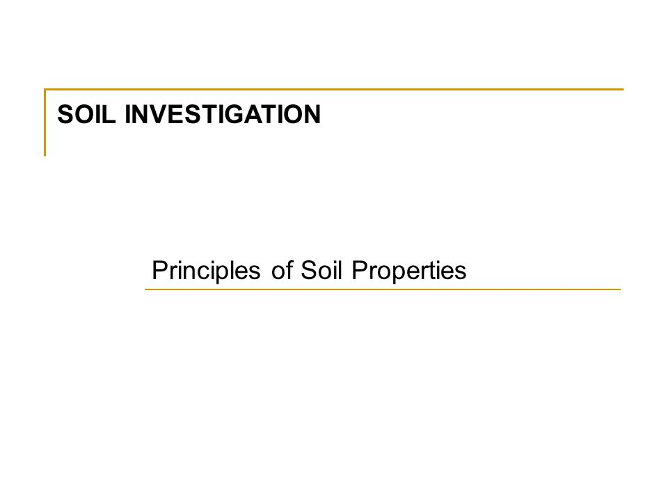 Road construction method ppt video online download for Soil investigation report