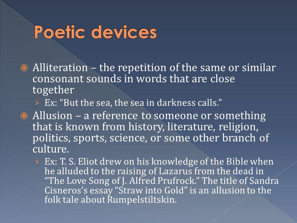 poetic devices essays
