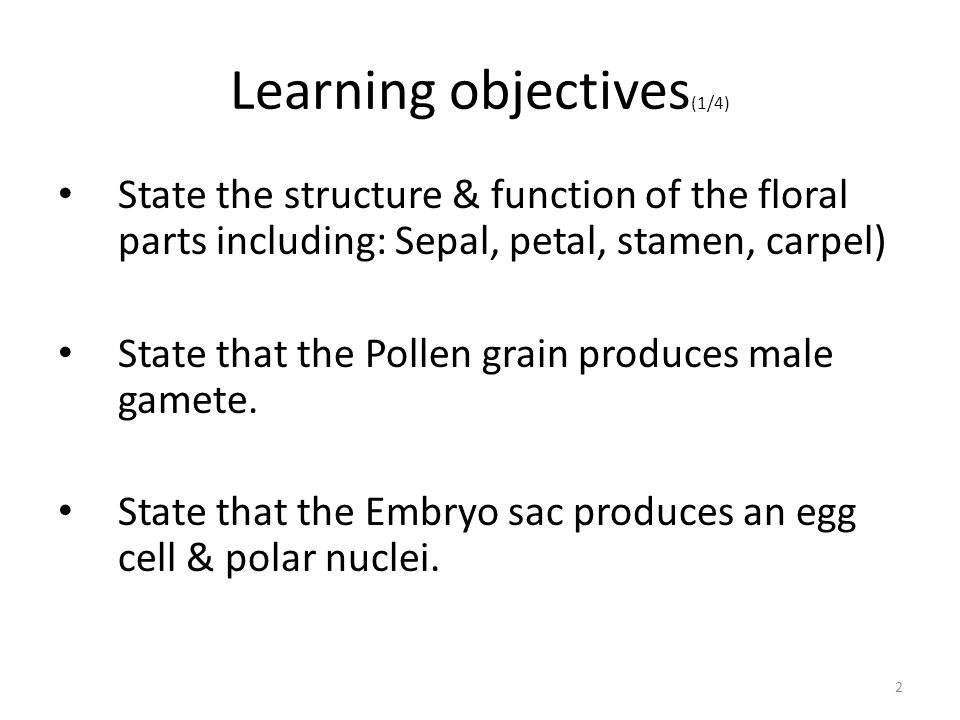 Learning objectives(1/4)