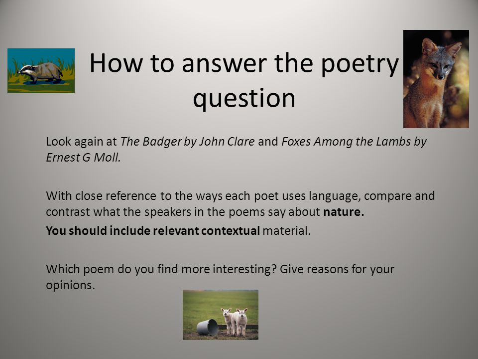 how do the poets compare the For background information on the life and poetry of walt whitman, consult the following edsitement resources:  in what way does the democracy of such a poem .