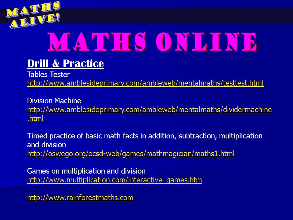 MATHS ALIVE! Presented by: Mrs Sarah Wee Miss Luo Jinyu. - ppt video ...