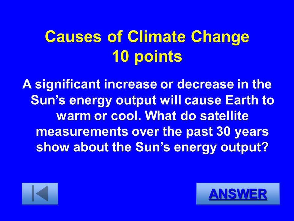 Causes of Climate Change 10 points