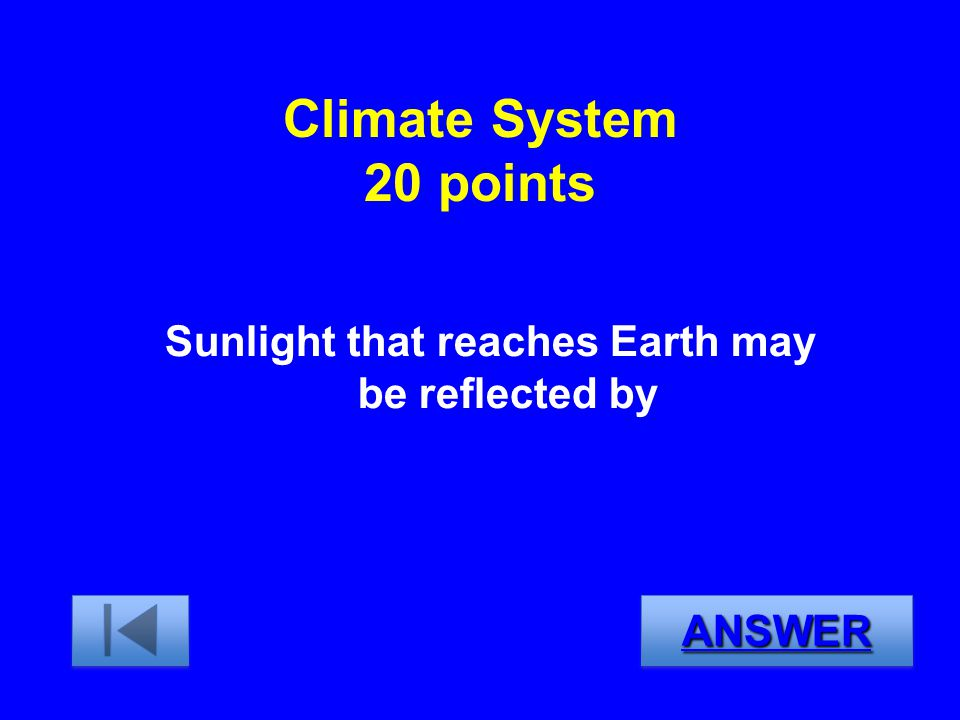 Sunlight that reaches Earth may be reflected by
