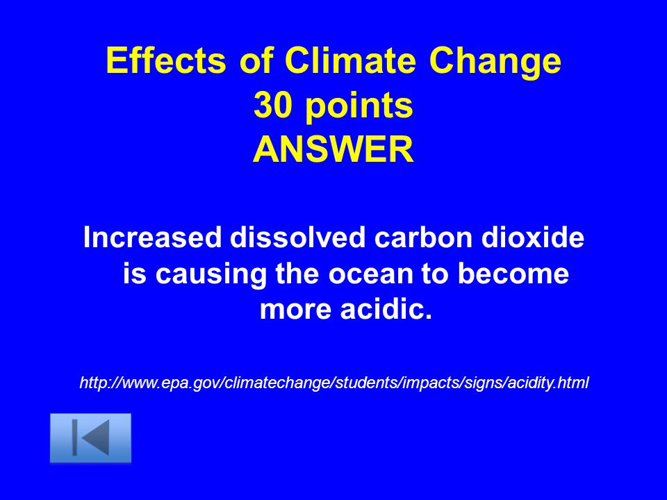 Effects of Climate Change 30 points ANSWER
