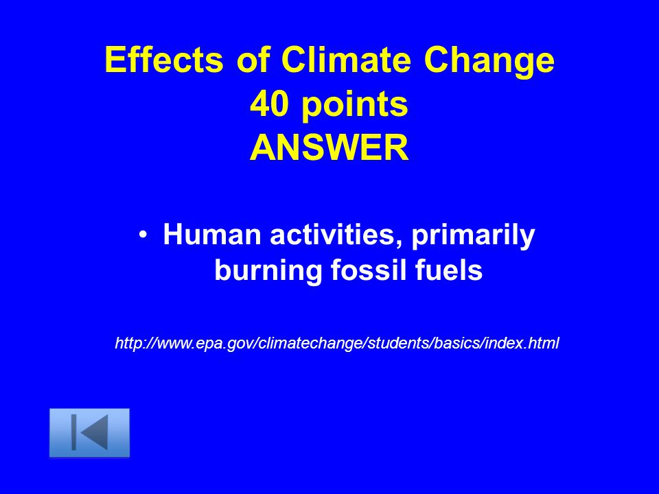 Effects of Climate Change 40 points ANSWER