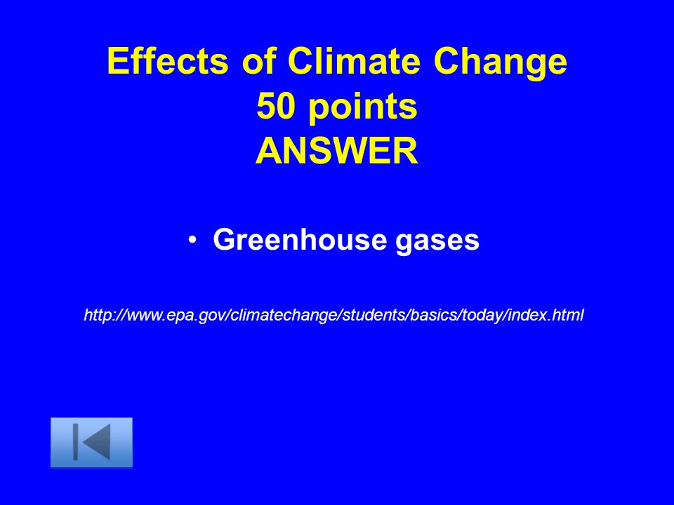 Effects of Climate Change 50 points ANSWER