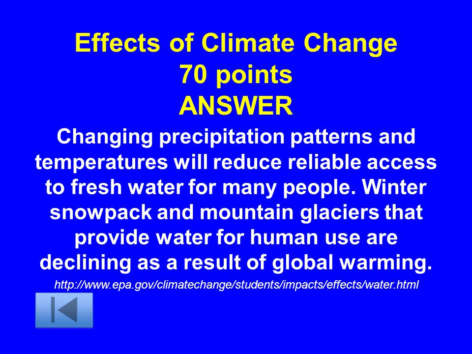 Effects of Climate Change 70 points ANSWER