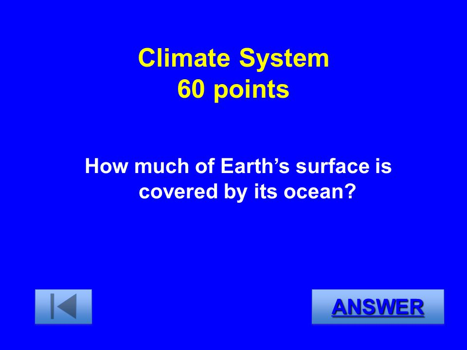 How much of Earth's surface is covered by its ocean