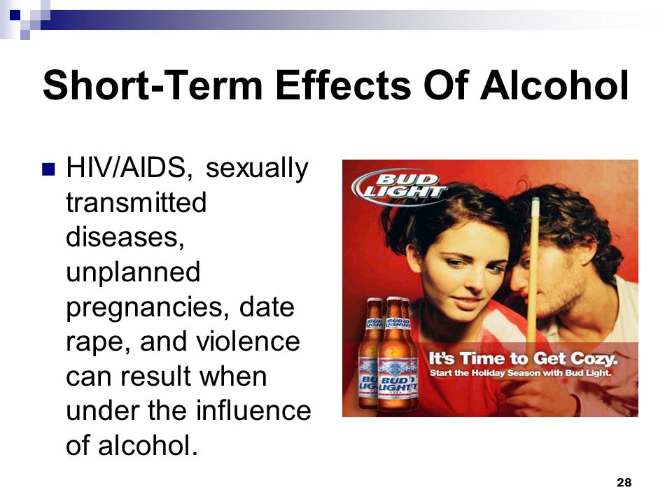 Effects of dating an alcoholic