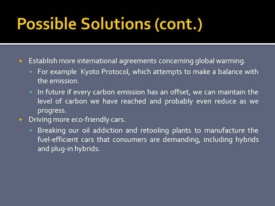 an analysis of the kyoto protocol as a solution to reduce the emission of greenhouse gases Senate hearing, 109th congress - kyoto protocol: assessing the status of efforts to reduce greenhouse gases kyoto protocol on carbon emission credits options pricing.