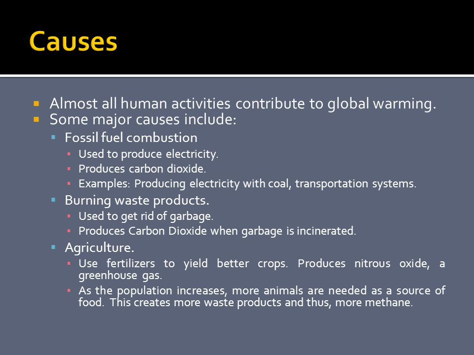 the causes of climate change and the contributions of humans to the global issue What are climate change and global warming,  which in turn causes climate change  to debate is the extent to which humans are affecting global.