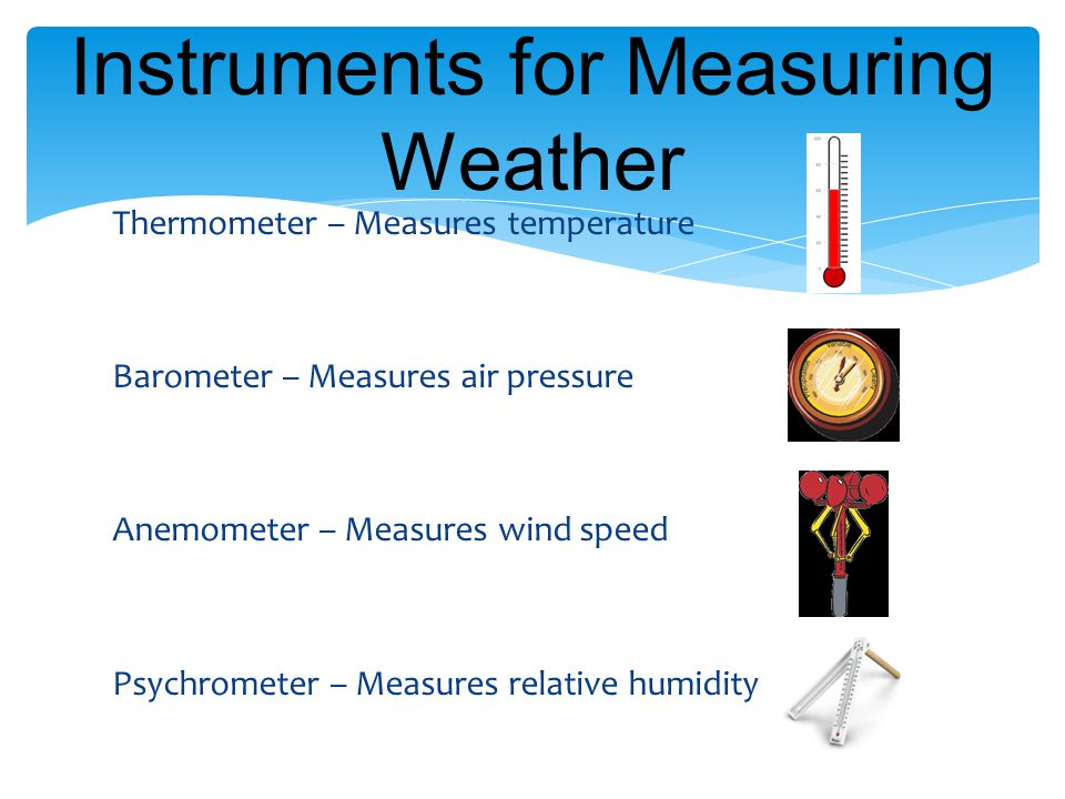 Instruments for Measuring Weather