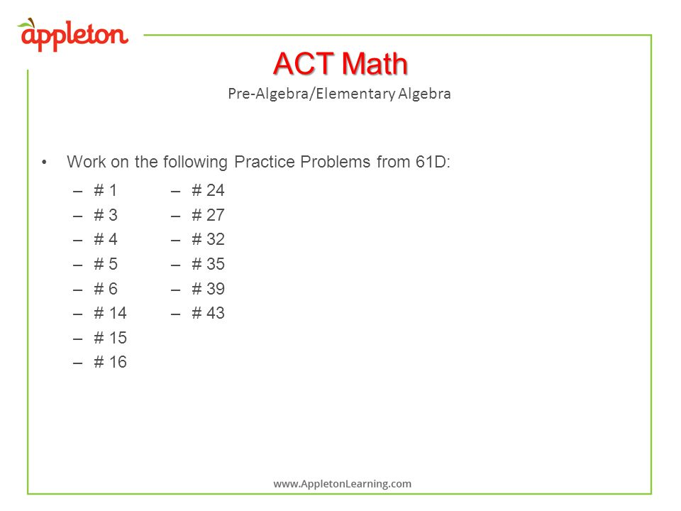 Algebra problems online