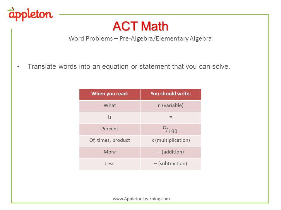 Math: Pre-algebra & Algebra - ppt video online download