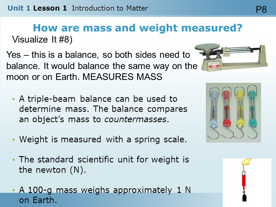 How are mass and weight measured