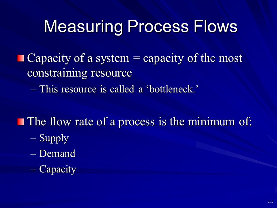 Measuring Process Flows