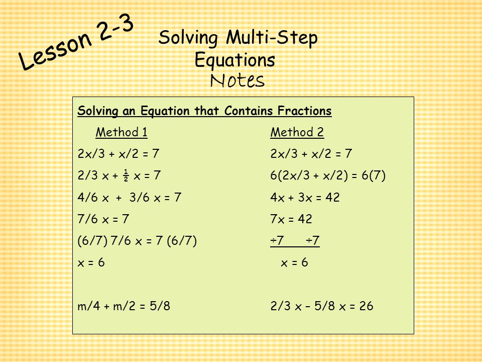 2 3 Practice Solving Multi Step Equations Answers Form K ...