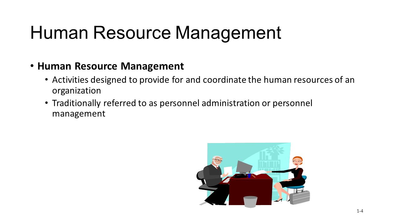 managing and co ordinating the human resources