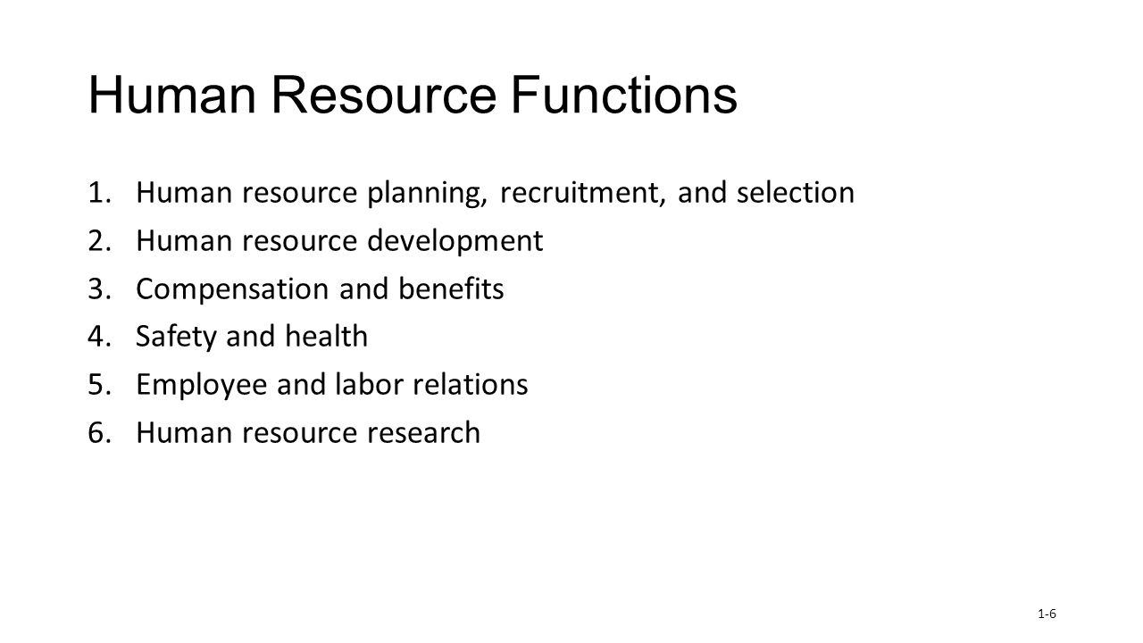 major functions of human resource management pdf