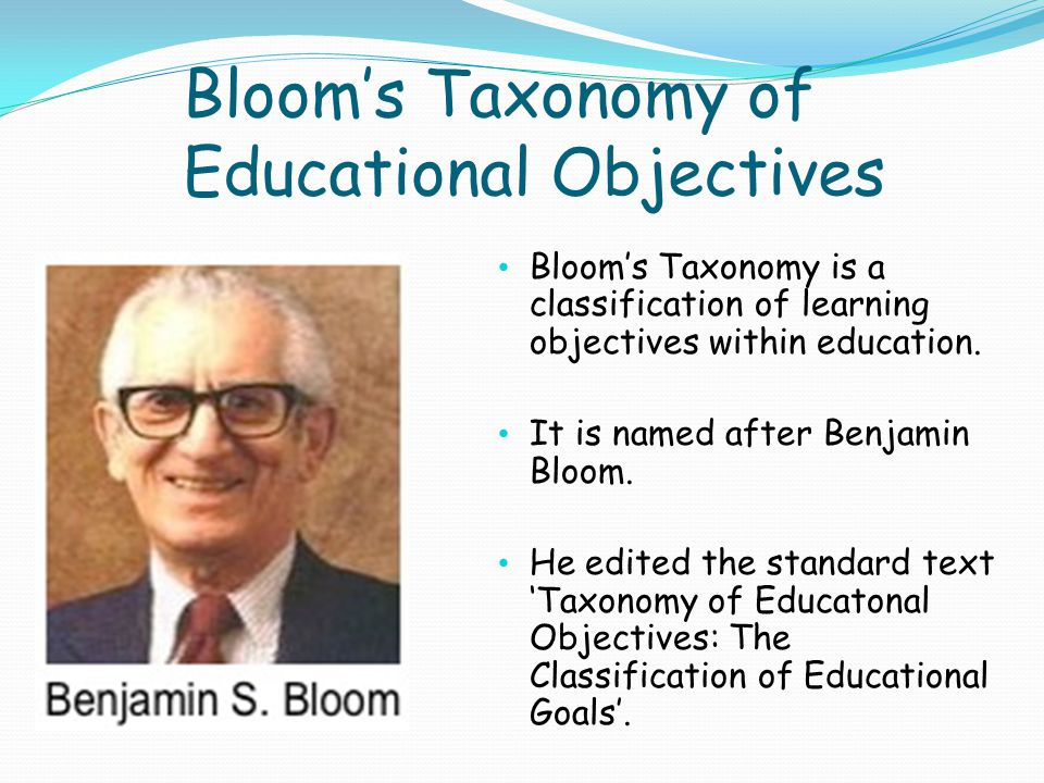 benjamin bloom taxonomy of educational objectives pdf
