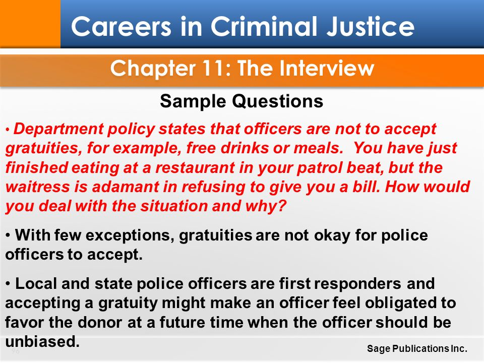 should police officers accept gratuities