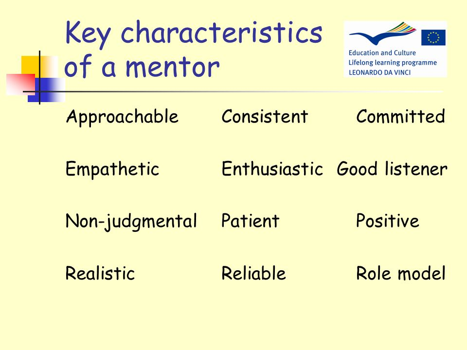 Key characteristics of a mentor