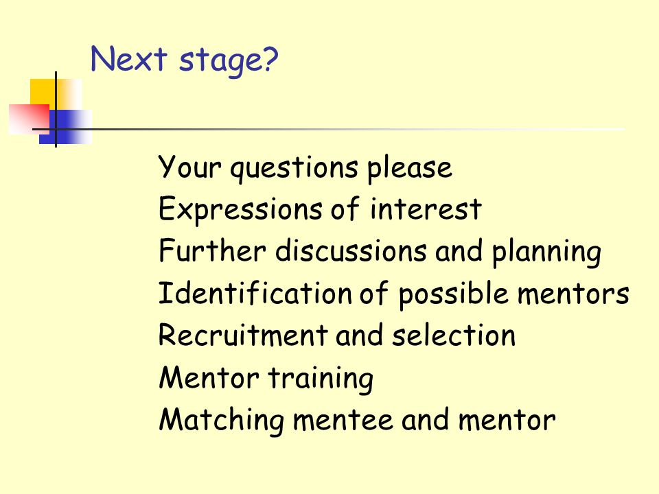 Next stage Your questions please Expressions of interest