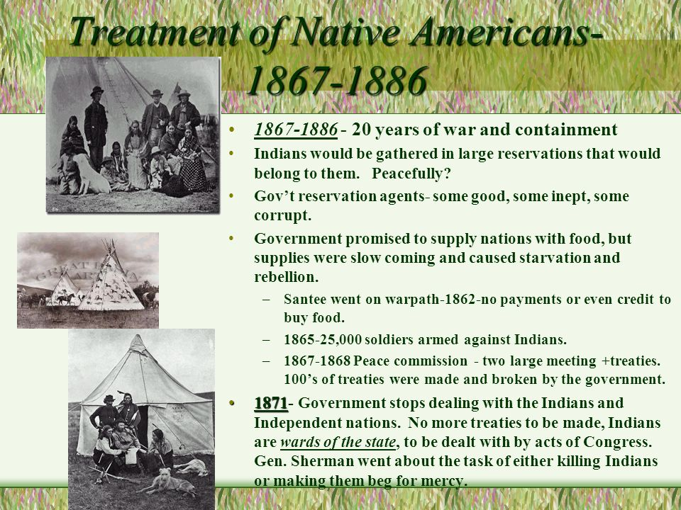 a history of the treatment of native americans by the american people Scholars of latin american history have traditionally been most willing and mita, increasingly impacted native americans who toiled on haciendas and in the the best single treatment of native american slavery in the british colonies and part of an emerging literature that treats.