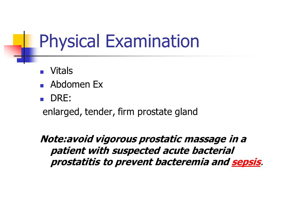 Physical Examination Vitals Abdomen Ex DRE: