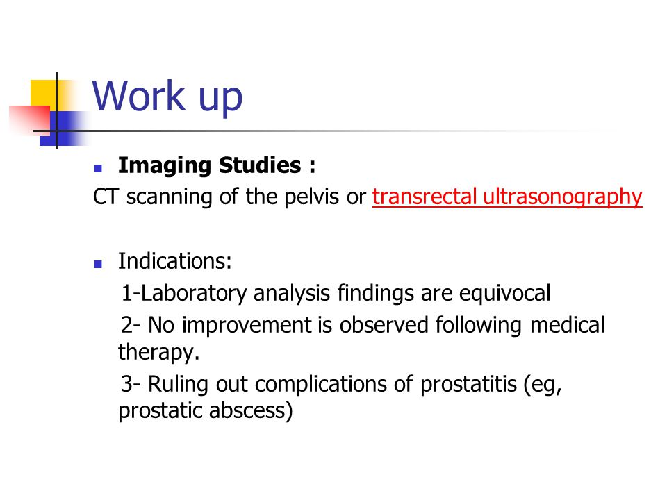Work up Imaging Studies :