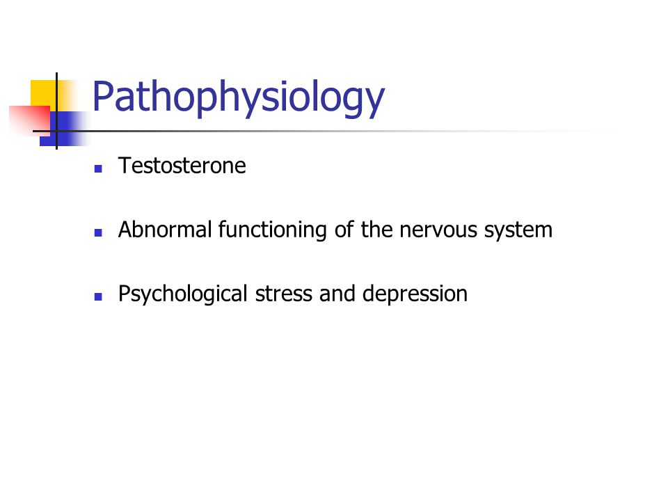 Pathophysiology Testosterone