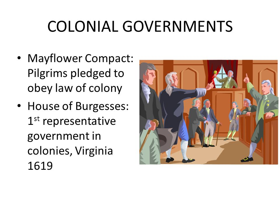mayflower compact and house of burgesses English bill of rights mayflower compact virginia house of burgesses fundamental orders of connecticut document year how did the document impact colonial government.