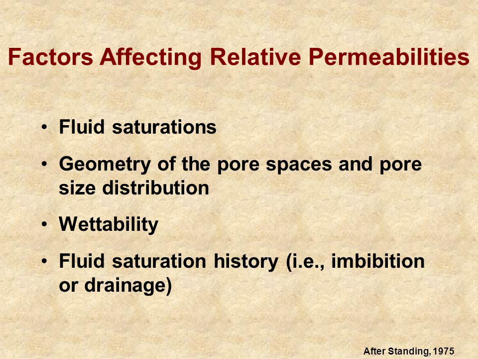 Effective and Relative Permeabilities 10