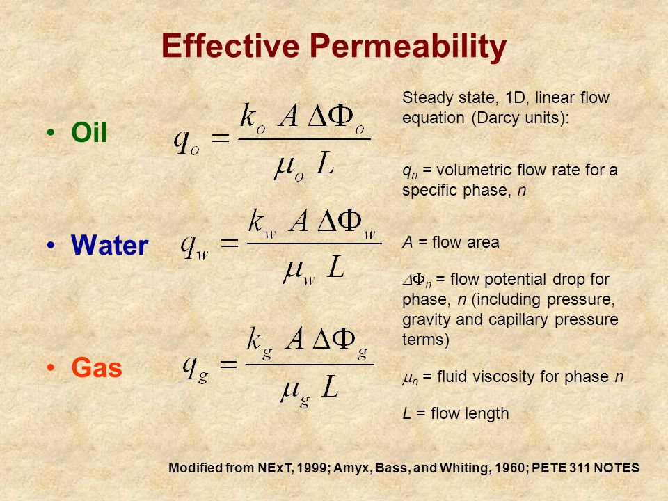 Effective and Relative Permeabilities 5