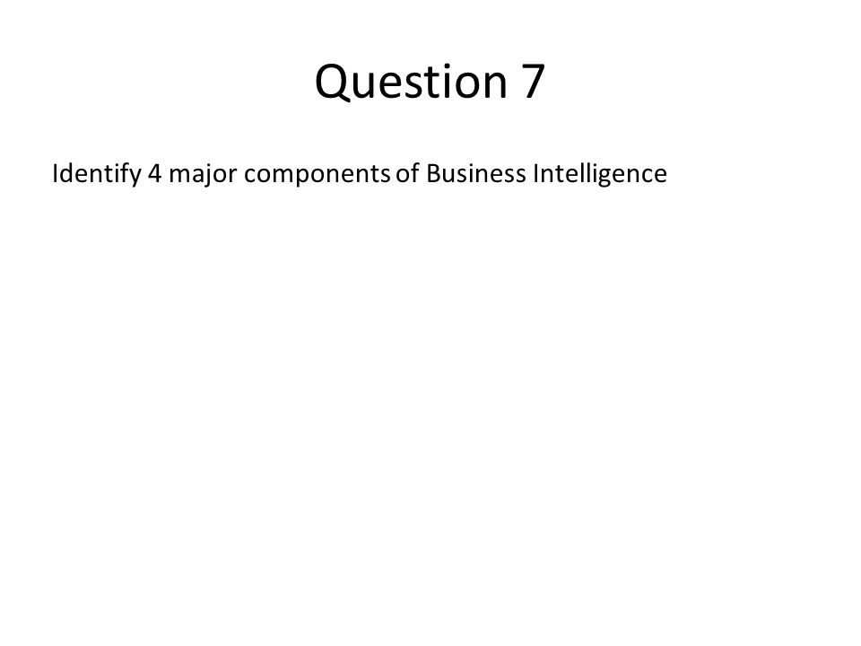 questions on the business intelligence One definition contrasts the two, stating that the term business intelligence refers to collecting business data to find information primarily through asking questions, reporting, and online analytical processes.