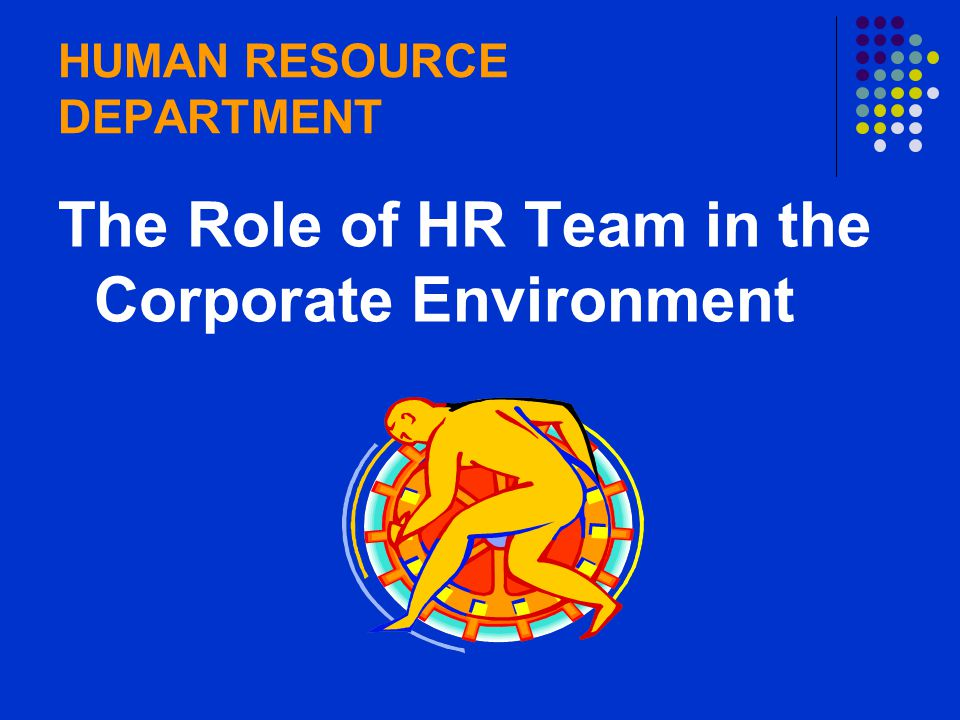 the role of hr department in