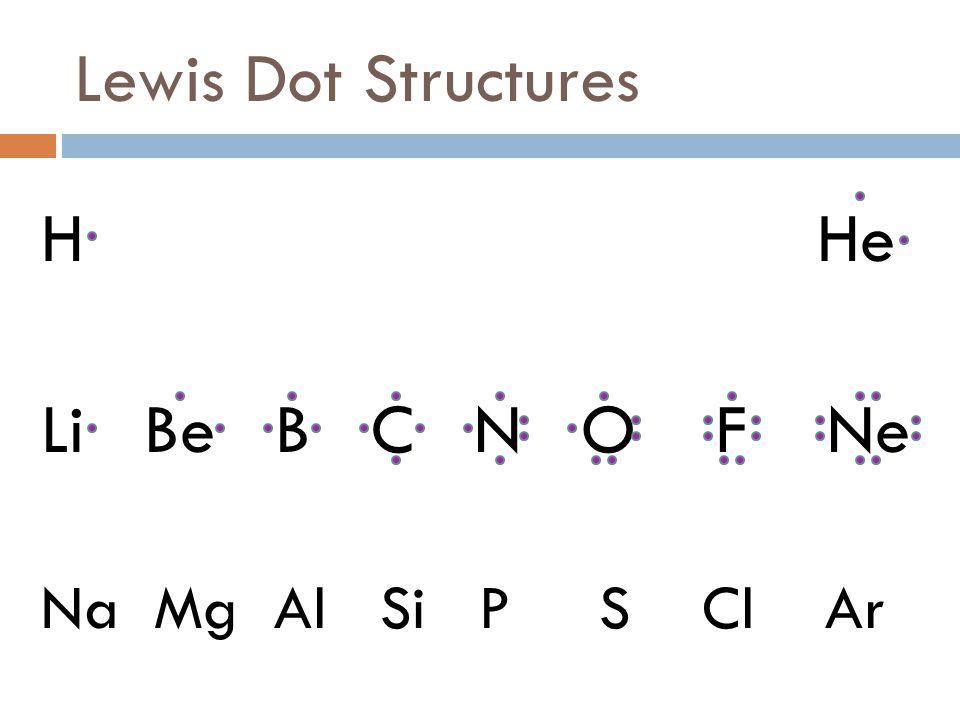 Lewis Dot Structures H He Li Be B C N O F Ne on Calcium Lewis Dot Structure